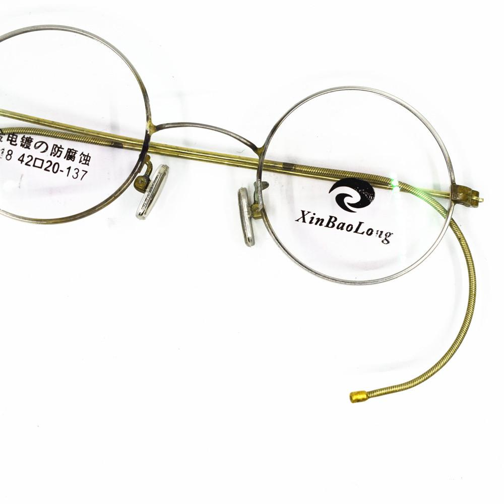 ecaecb2d05 2019 Vintage 42mm Really Old Antique Round Eyeglass Frames Wire Rim Rx Able  Very Old Glasses Spectacles From Taihangshan