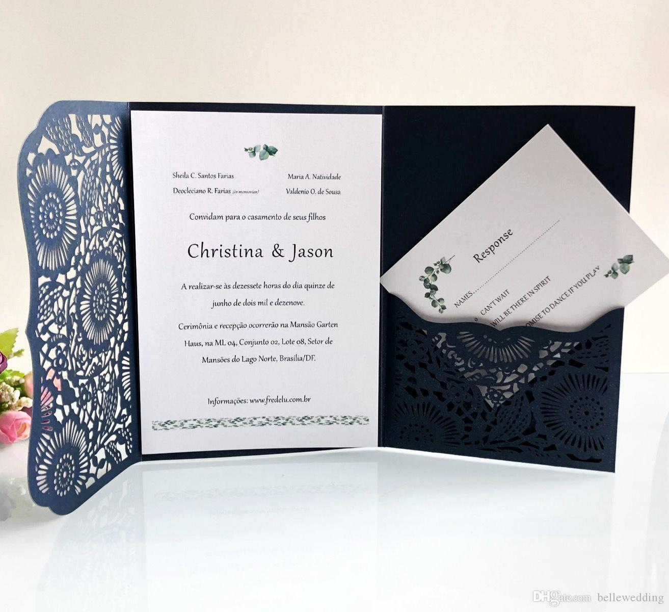 Personalized Wedding Invitations.Laser Cut Wedding Invitations Oem In 41 Colors Customized Hollow Folding Personalized Wedding Invitation Cards Bw Hk168