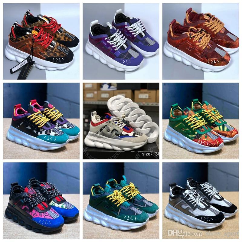 7669126a03cb4 Acquista Versace Shoes New Colors Chain Reaction Sneaker Scarpe Da  Ginnastica Da Donna Da Uomo Sneaker Leggera Catena Legata Suola In Gomma Di  Lusso Di ...