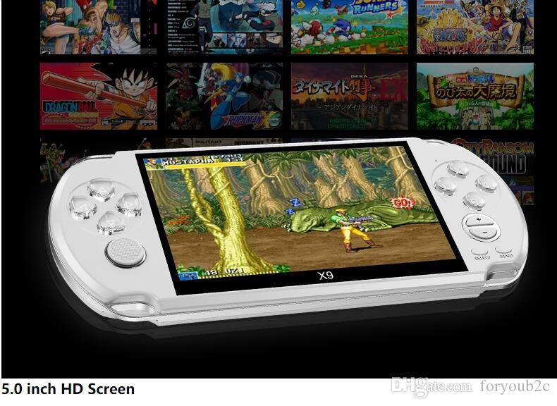 brand new X9 game console 5.0 Inch Large Screen Handheld Game Player Support TV Out Put With MP3/Movie Camera Multimedia Video Game Console