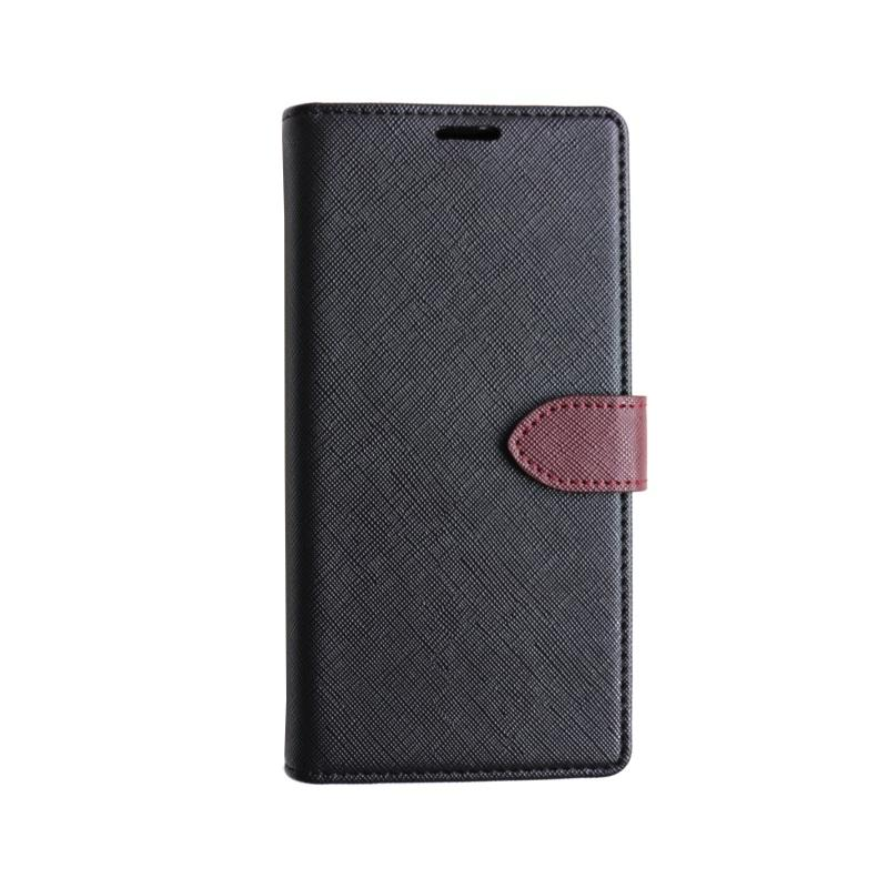 dca92fbfe0 Étui portefeuille amovible en cuir Saffiano en cuir PU pour iPhone 6s 7 8  10 Xs XR MAX pour le Samsung Galaxy Note9 avec étui de téléphone avec ...