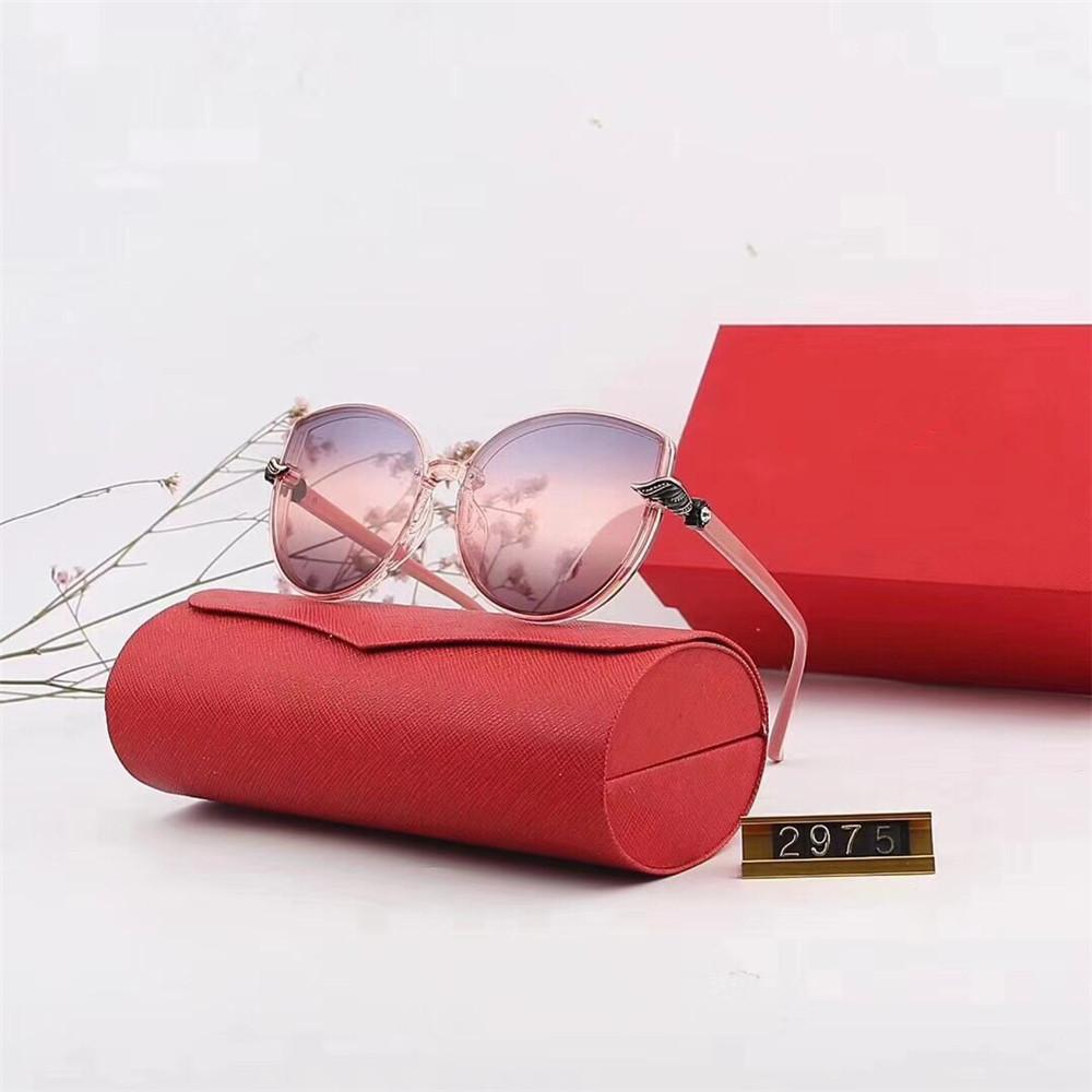 1d8d64302a6 Newest Famous Women Sunglasses Luxury Designer Big Frame Cat Eye Glasses 100%  UV Protection Mirror Eyewear Brand Sunglasses With Retail Box Sunglasses  For ...