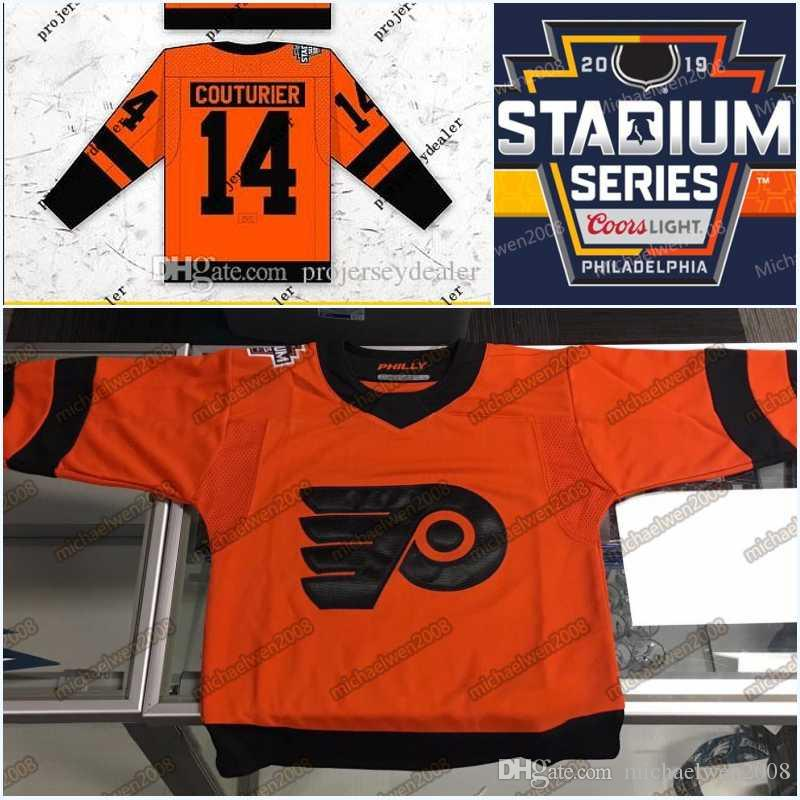 new style 6c196 da7f4 79 Carter Hart 2019 Stadium Series Jersey Mens Philadelphia Flyers Claude  Giroux Simmonds Couturier Voracek Gostisbehere Hockey Jerseys