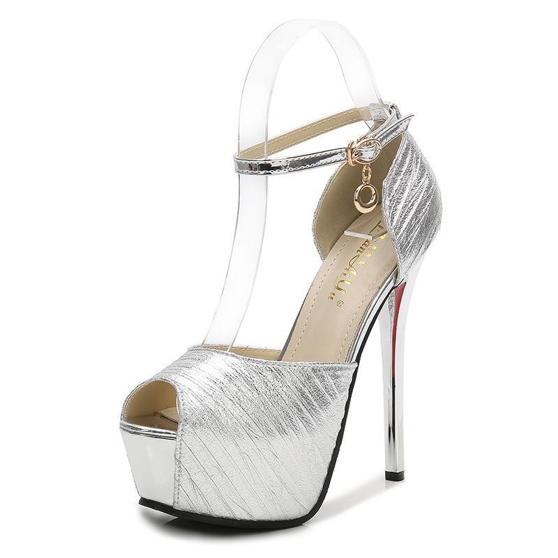 916bb33a2 Compre 2018 Nueva Plataforma Impermeable De Pescado Boca Sandalias Sexy  Zapatos De Mujer Estilo Europeo Americano Elegante Salvaje Sandalias De  Tacón Alto A ...