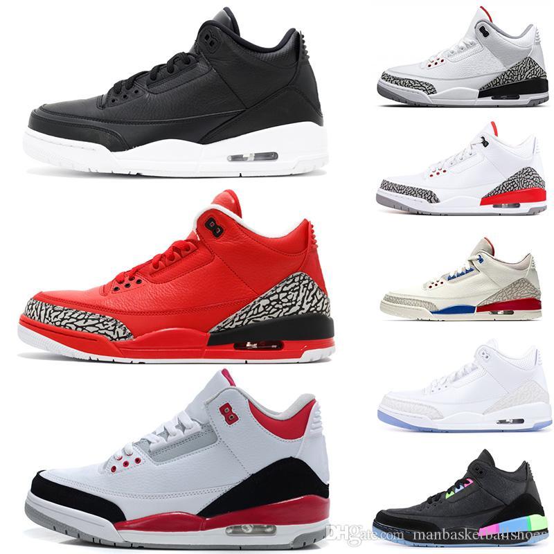 separation shoes cbc9d 5db3a 3s Black Cement 3 mens basketball shoes True Blue Free Throw Line Korea -  Seoul Tinker Grateful men sports Designer sneakers