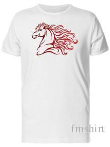 Lovely Red Watercolor Horse Fashion Men 039 s Tee Image by RoRock