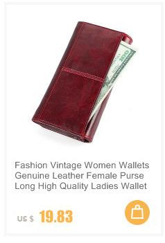 Fashion Genuine Leather Women Wallet Female Cell Phone Pocket Long Women Purses Hasp Oil Wax Leather Lady Coin Purse Card Holder