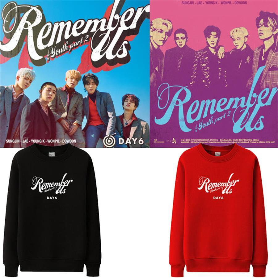 Kpop Day6 Remember Us Youth Part2 Cotton Sweatshirt New Album Fashion Crew  Neck Support Hoodie Pullover