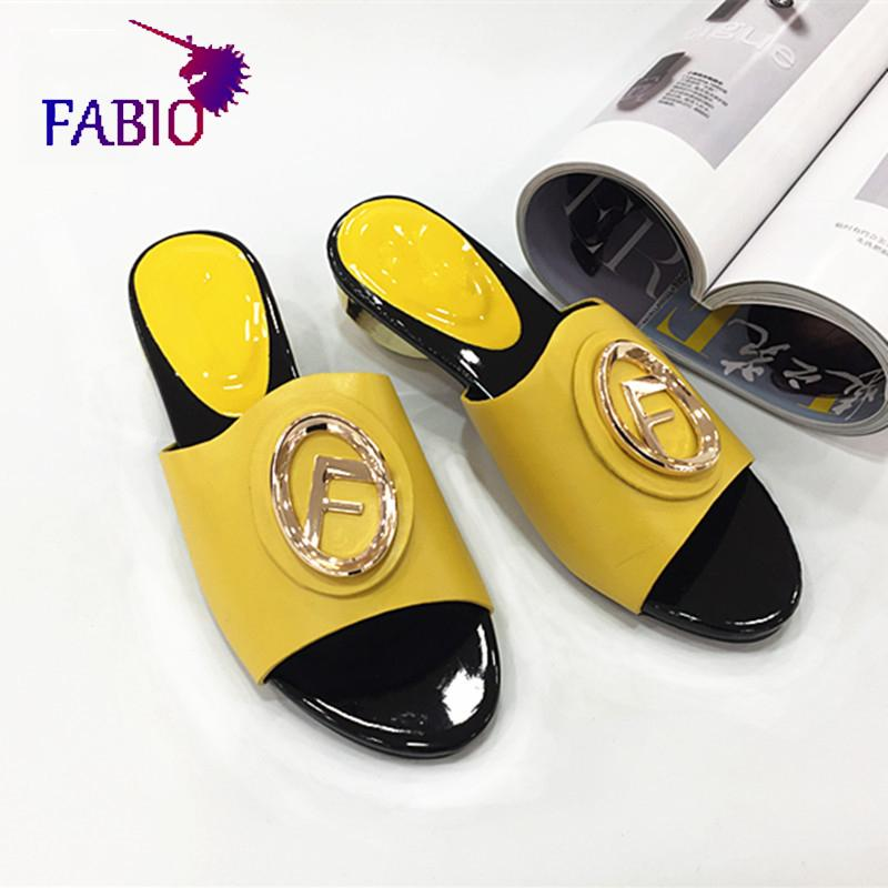 Low heel shoes for mama African Nigeria style slippers for women