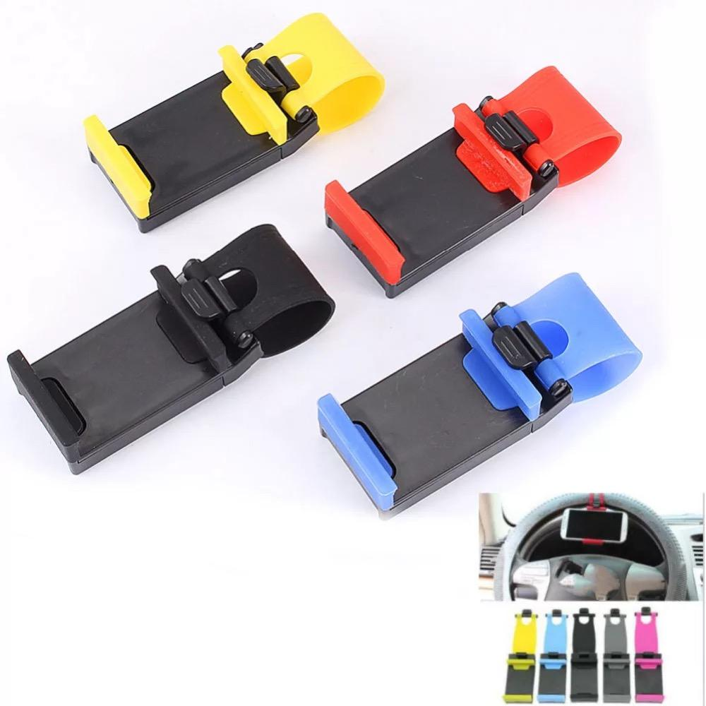 Car Steering Wheel Mobile Phone Holder Steering Wheel Clip Mount Rubber Band Cell Phone Stand For Samsumg for LG GPS MP4 PDA