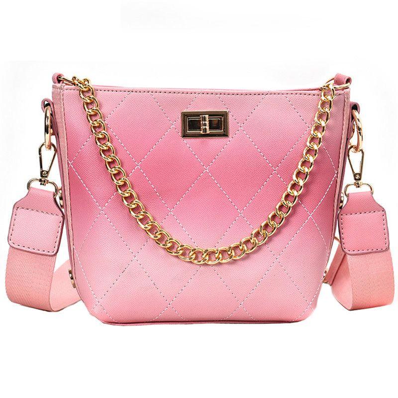 54e8628210 Luxury Handbag 2019 Fashion Sweet Girl Bucket Bag Quality Pu Leather Women S  Designer Handbag Chain Tote Shoulder Crossbody Bags Name Brand Purses  Overnight ...