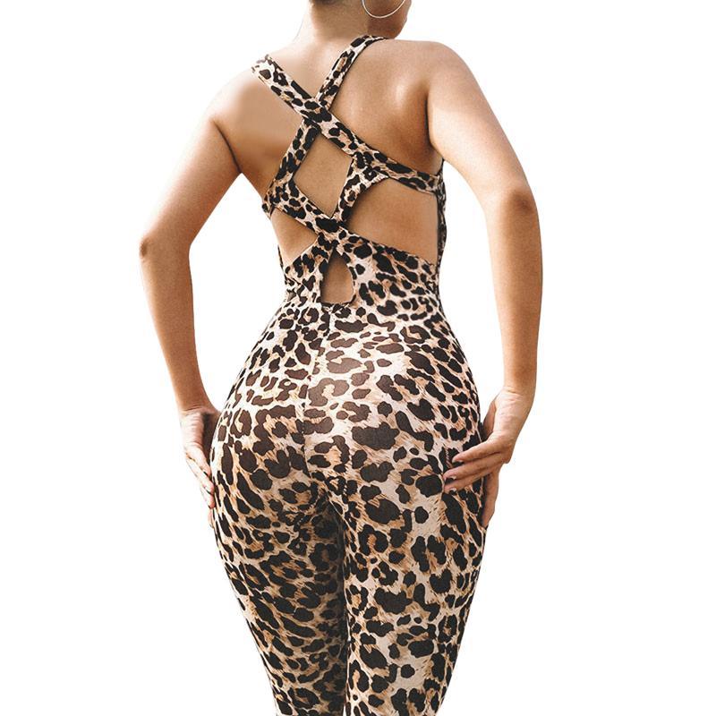 Acquista Vertvie Leopard Fitness Tuta Sportiva Di Un Pezzo Delle Donne Set Allenamento  Palestra Tuta Fitness Pantaloni Sexy Set Yoga Fasciatura Palestra ... 3e439fb596d
