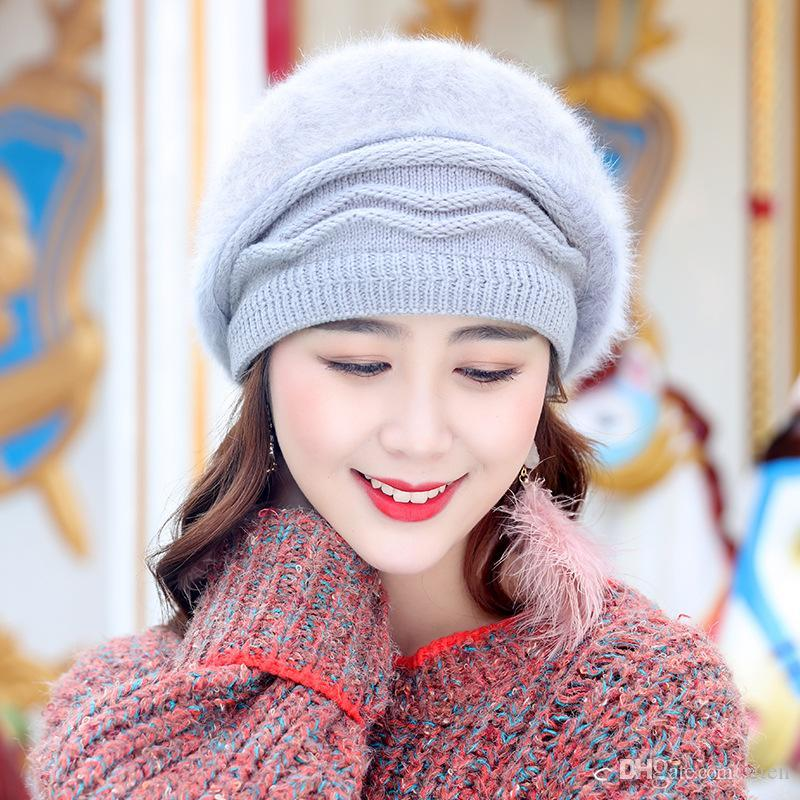 13a11965f05ed Vintage Women French Beret Hats Caps Warm Winter Girl Sweet Painter ...