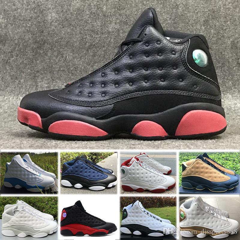 best service d00d4 03f28 Großhandel Nike Air Jordan 13 Retro Basketball Shoes Billig Billig 2018  Hohe Qualität Schuhe J13 XIII 13s Männer Freizeitschuhe Women Bred Schwarz  Braun ...
