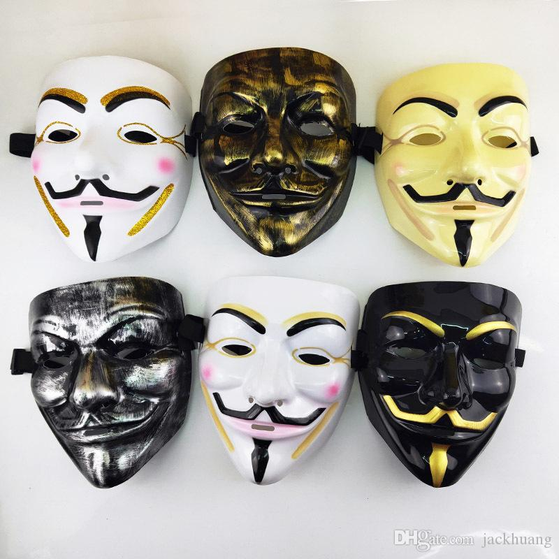 V for Vendetta Mask Halloween Masquerade Party Cosplay Costume Props Dropshipping