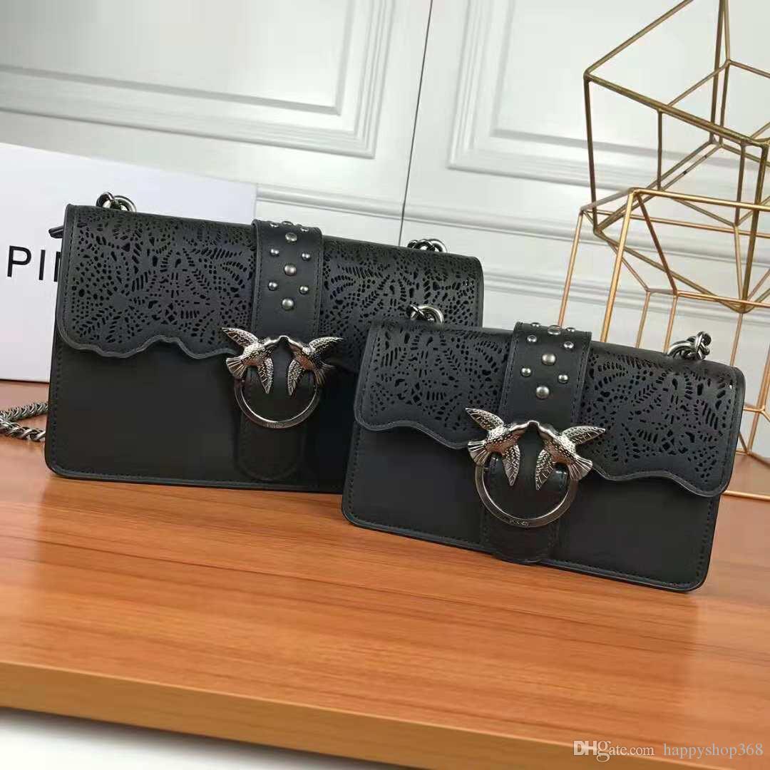 Chaîne Femmes Vachette Swallow En À 0882 Mode Haute Messenger Sacs Qualité Pack Pinko 2019 Bandoulière De Sac 27cm Cuir 8mN0wvOn
