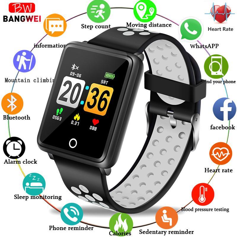 fb086716ebd5 BANGWEI New Fashion Sport Smart Watch Women Fitness Wristband Blood  Pressure Heart Rate Monitor Pedometer Watch IP67 Waterproof Latest Watches  Trendy ...