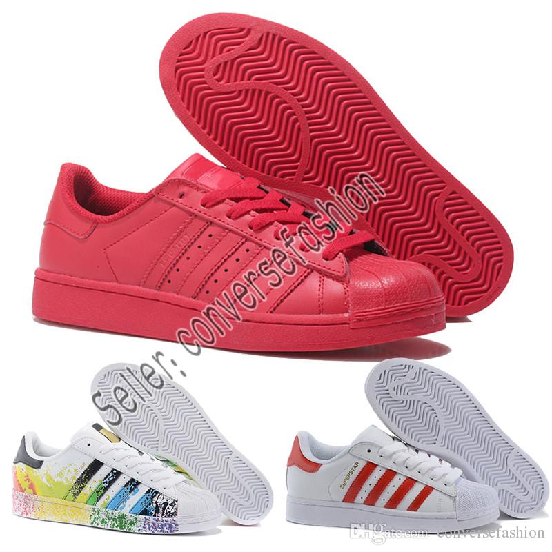 best loved 4c1bf 4f56b Acquista Adidas 2019 Originals Superstar White Hologram Iridescent Junior  Superstars 80s Pride Sneakers Super Star Donna Uomo Atletica Pelle Scarpe Da  Corsa ...