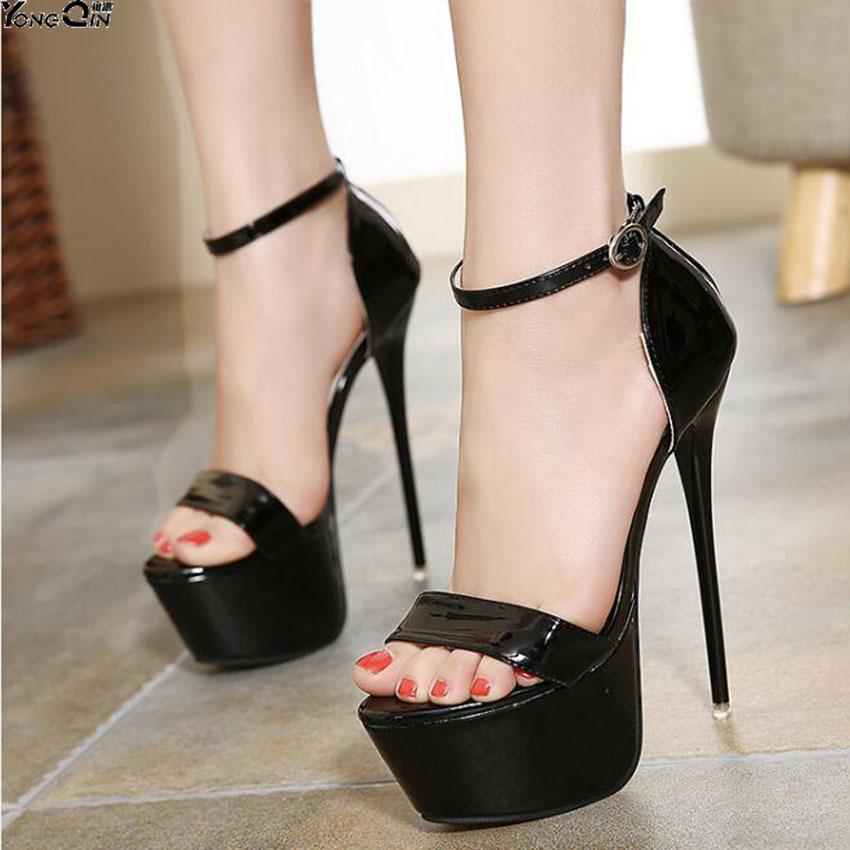 4d0b9180b706c Plus Size 35-46 2019 Summer Fashion Women Sandals Sexy High Heels Sandal  Platform Party Wedding Shoes Woman Online with  64.68 Pair on Bag80555 s  Store ...
