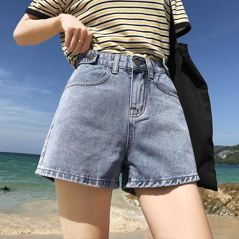8aac3e0e86 2019 Euro Style Women stright Denim Shorts Vintage mid Waist Tassel Jeans  Shorts Street Wear Sexy Wide Leg For Summer