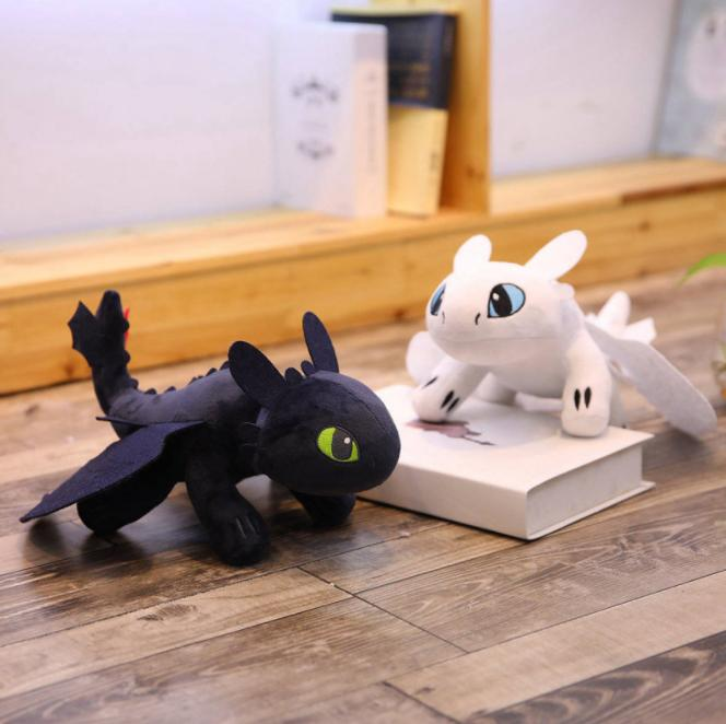 35cm (13.78inch) How to Train Your Dragon 3 Plush Toy 2019 New movie Toothless Light Fury Soft Dragon Stuffed Doll MMA1508 60pcs