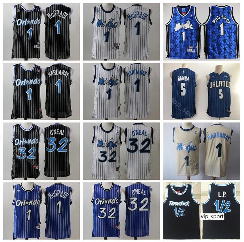 best service af521 f335c Orlando Basketball Penny Hardaway Jersey 1/2 LP Penny Anfernee Hardaway  Tracy McGrady Mohamed Bamba Shaquille ONeal Shirts Uniform