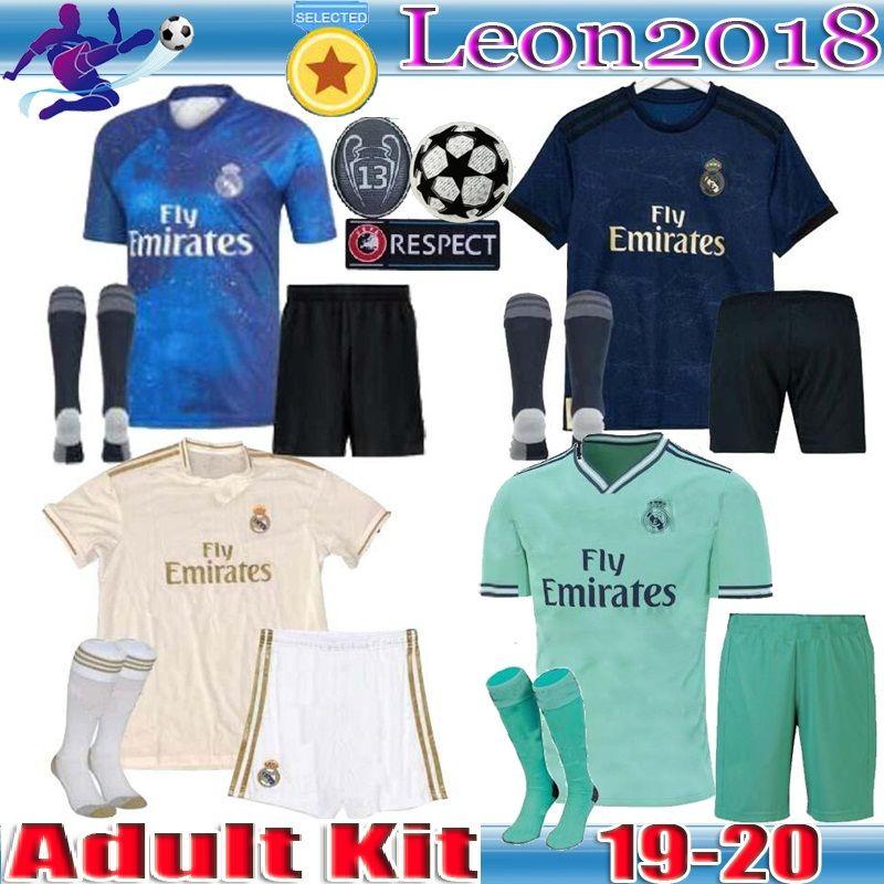 Adult kit 19 20 Real Madrid soccer jersey 2019 2020 Men ASENSIO ISCO  VINICIUS JR BALE Football jerseys shirts