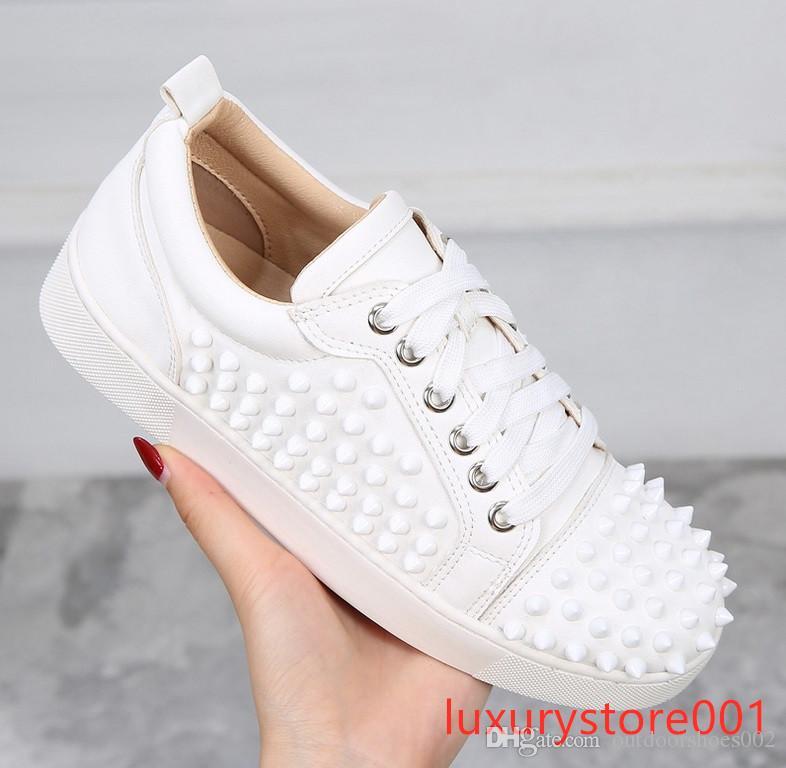 Designs Moda Spike Low Cut Sapatos de Vestido de Festa Sapatilha Vermelha de Luxo Sapatos de Festa de Casamento de Couro Genuíno Sapatos Casuais 5sdg