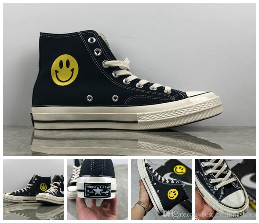 ae0b89f732407 2019 2019 New Chinatown Market X All Stars Shoes Chuck 1970S Canvas Women  Taylor Men Designer Smile Face Casual Running Casual Sneakers 35 44 From ...