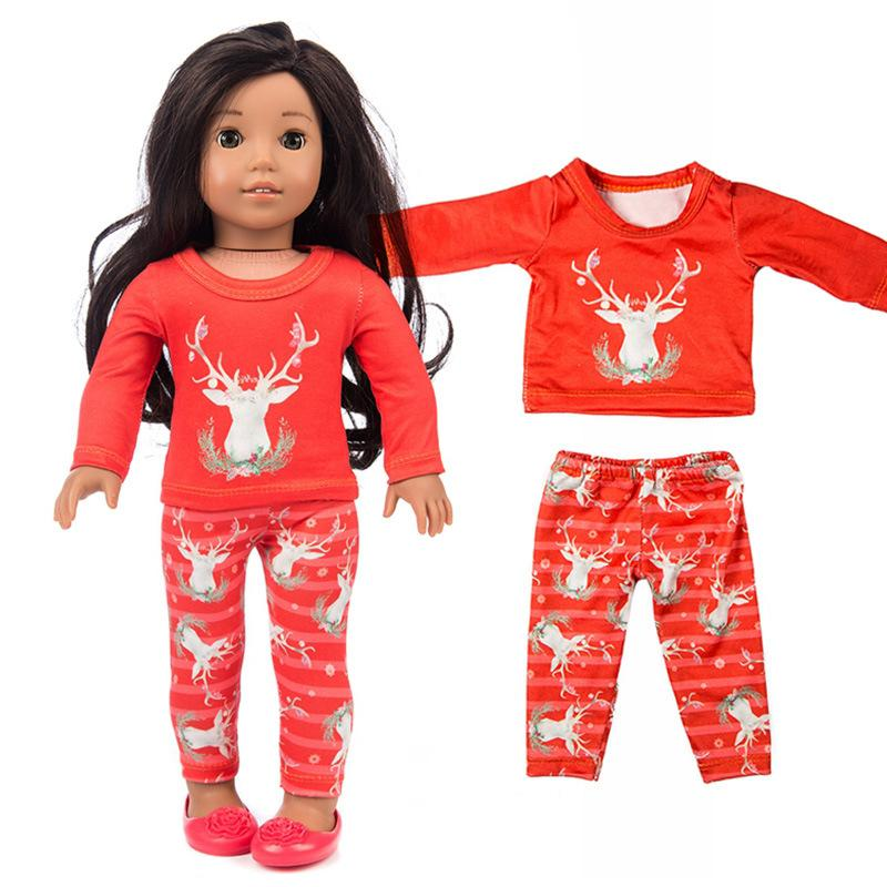 17934ea0c 18 Doll Christmas Reindeer Clothes And Pants for Dolls Gift Pajama Fit for Doll  Clothes Accessories Doll Christmas Reindeer Clothes Pants for Dolls Gift ...