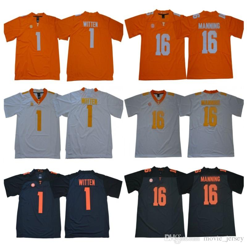 sale retailer afea8 3945c Mens NCAA Tennessee Volunteers Jersey 1 Jason Witten 16 Peyton Manning  Stitched College Football Jerseys High Quality Free Shipping