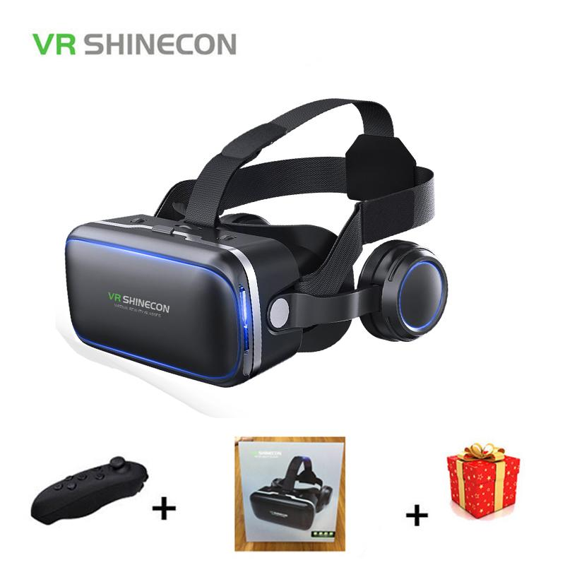 0e981ac8bf1f Shinecon Casque VR Virtual Reality Glasses 3 D 3d Goggles Headset Helmet  For Smartphone Smart Phone
