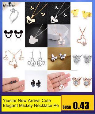 Yiustar Cute Lovely Fox Stud Earrings Romantic Small Aniaml Wooden Earrings for Women Girls Kids Jewelry Anti-Allergy Ear Studs