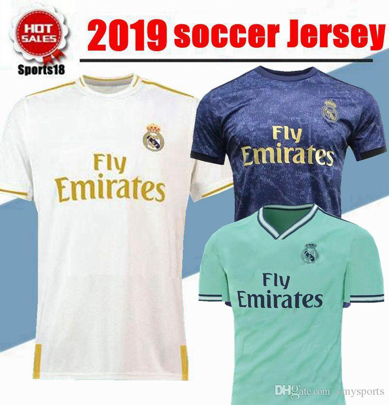 online store d22b0 ed0b8 2019 2020 Real Madrid home Soccer Jersey 19/20 Real Madrid third MODRIC  Hazard ASENSIO ISCO MARCELO SERGIO RAMOS football shirts