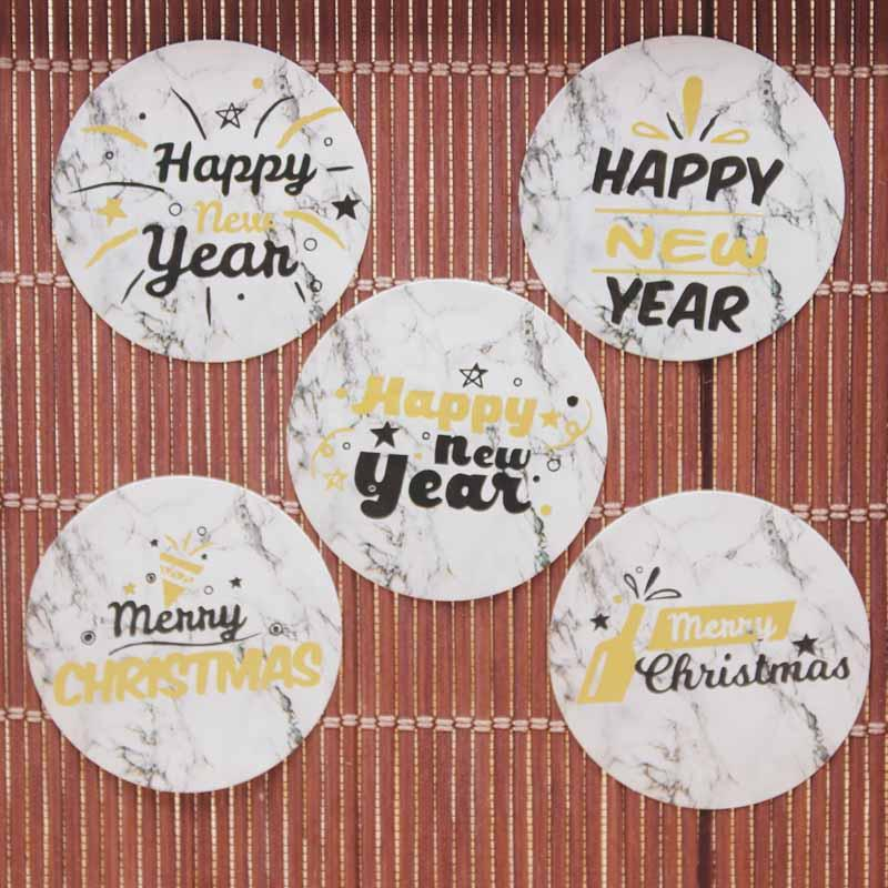 2018 white happy new year gold sticker label mix design merry christmas gifts jewelry labe self adhesive diy thank you label from newlake 2421 dhgate