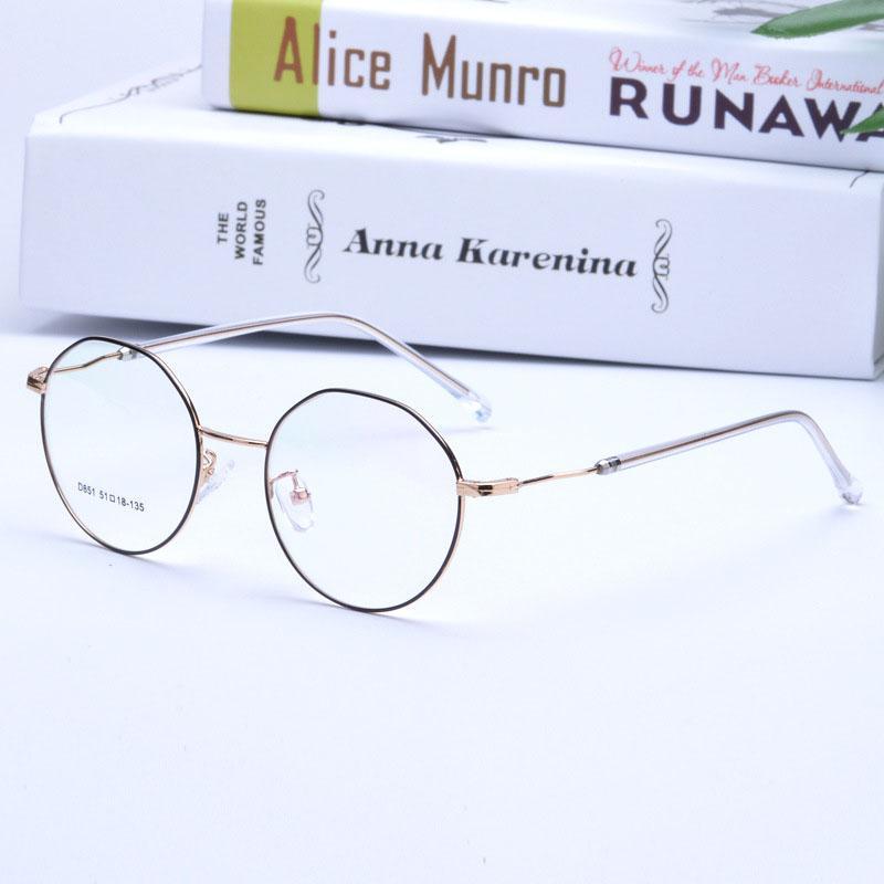 ad73a4e6b8f3 2019 Hot Retro Korean Irregular Round Glasses Frame Clear Lens Fashion  Women Men Gold Eyeglass Optic Frame Eyewear Vintage Spectacles From  Taihangshan