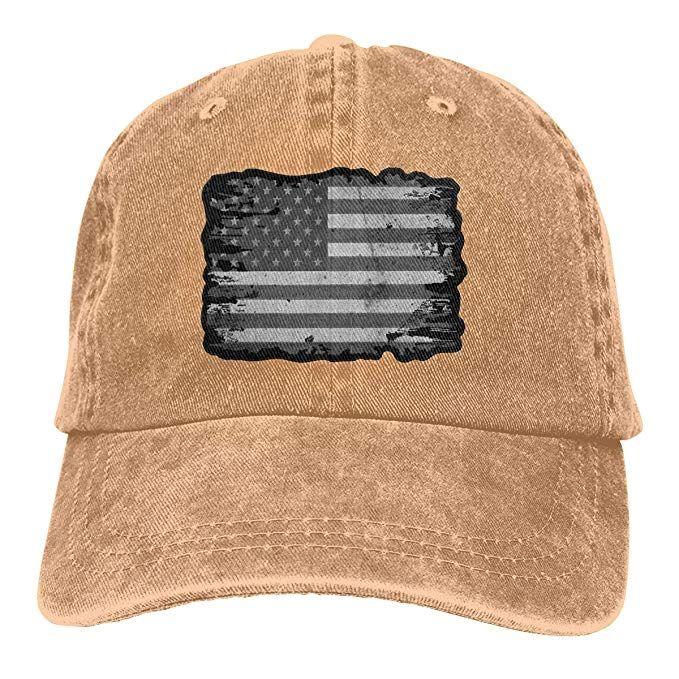 2019 New Cheap Baseball Caps Subdued American Flag Mens Cotton ... 7c5a6420fc7