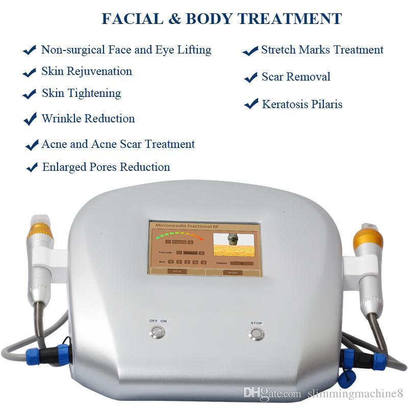 Fraksiyonel Mikro İğne radyo frekansı güzellik makine rf 2 yıl garanti Thermage cilt gençleştirme yüz bakımı kaval