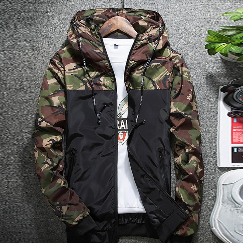 fe12519de4652 YJSFG HOUSE Camouflage Jackets Men s Coat 2018 Spring Summer Casual ...