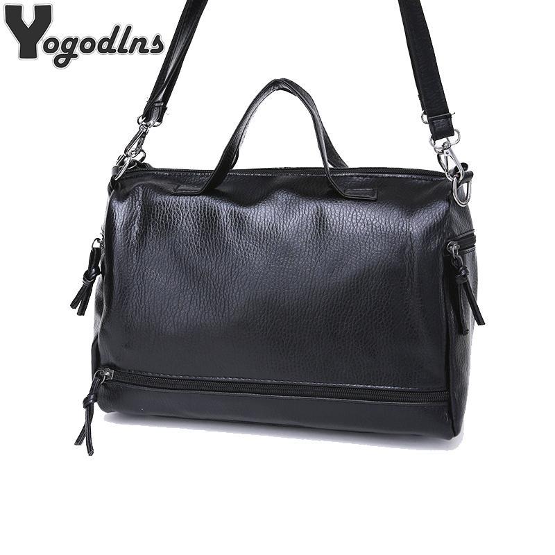 6967a981e793 2018 Real Pu Leather Famous Brand Women Messenger Bags Luxury Handbags  Women Bags Designer Bolsa Feminina Sac A Main Tote Clutch Bags Beach Bags  From Boot21 ...