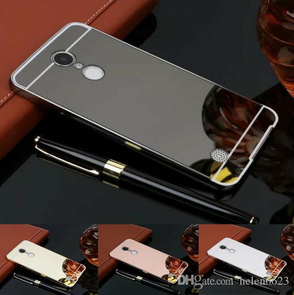 new styles 668e6 c295d For LG K20 Plus Case 5.3 Luxury Gold Mirror Anti-knock Case Plating  Aluminum Metal Frame Back Cover For LG G6 v20 v30 stylus 3 X Power