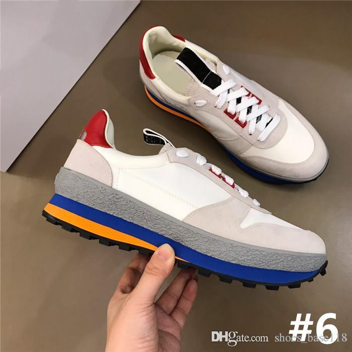 Multicolor optional trend sports casual shoes calfskin casual shoes Mens outdoor sports shoes essential for hipsters single item