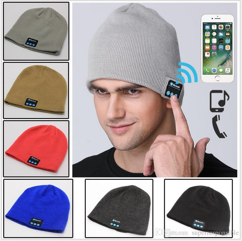 Bluetooth Hat Beanie Cap Bluetooth V4.1 Stereo wireless earphone Speaker good voice Handsfree For IPhone 7 Samsung Galaxy S7 Music Hat