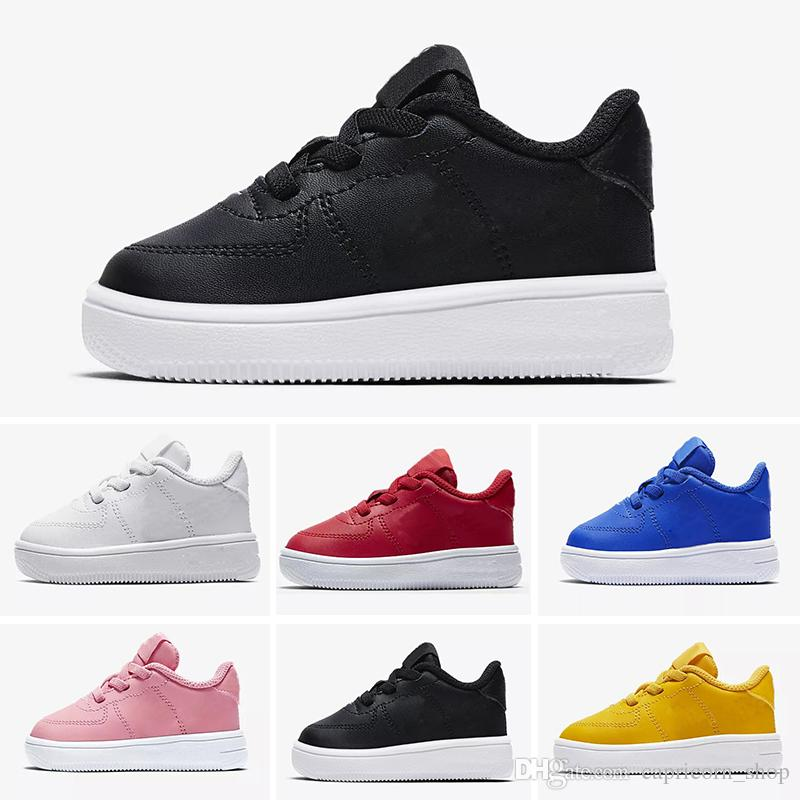 41f0cdb7280 Compre Nike Air Max Force Fly 2018 De Calidad Superior NUEVOS Niños De Moda  Los Zapatos Para Correr Blancos Bajos Altos Superiores Zapatillas De Skate  ...