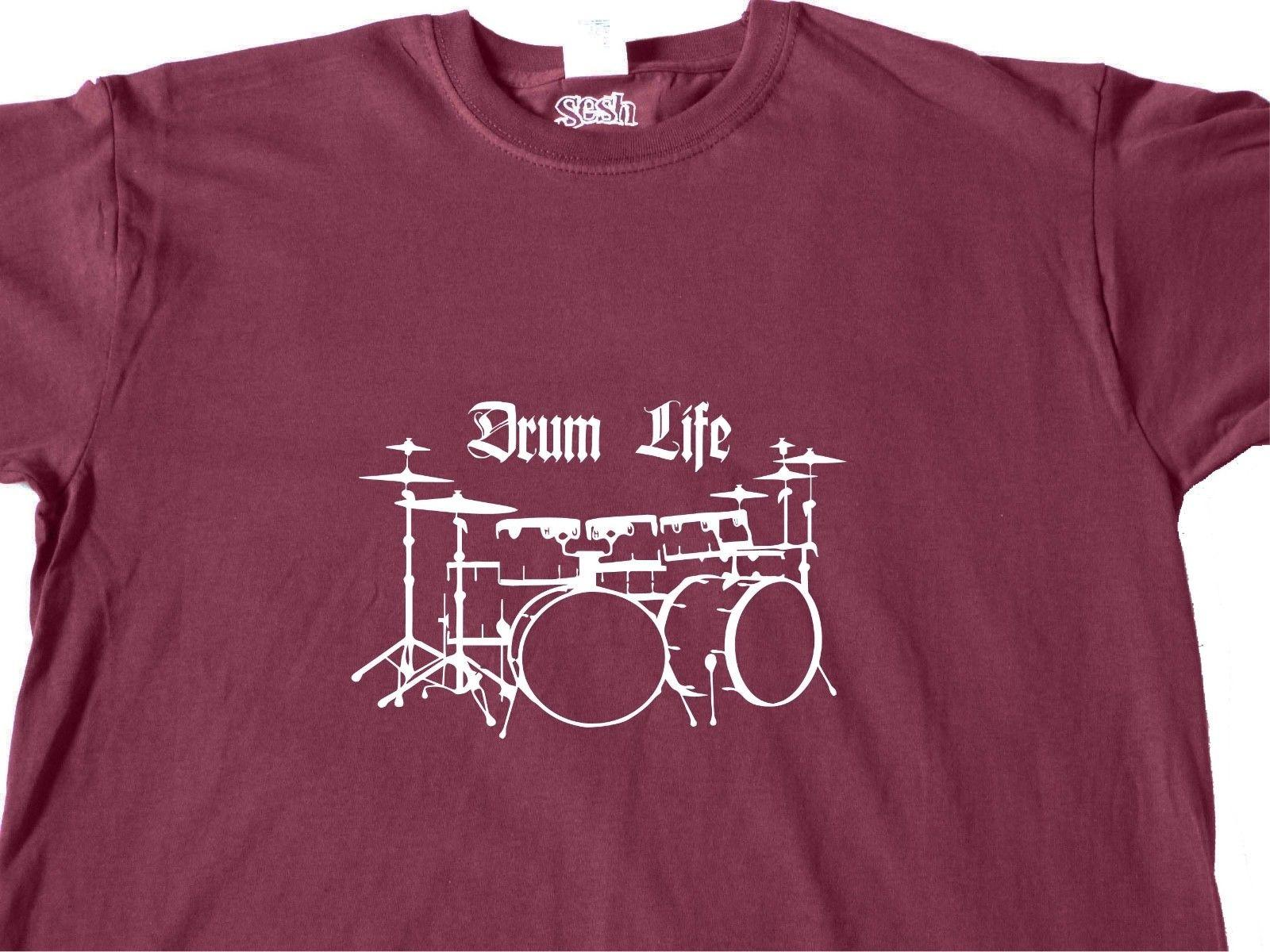 f9cec198 COOL T SHIRT Drum Kit HANDMADE Drummer Music Instrument Band Clothes  GiftsFunny Unisex Casual Tshirt Top Buy Tees Funniest T Shirt From  Boophotography, ...