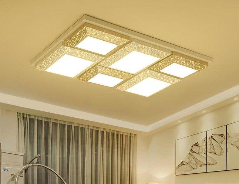 Plafoniere Grandi Led A Soffitto Moderno : Acquista plafoniere led creativo soggiorno soffitto lampade a