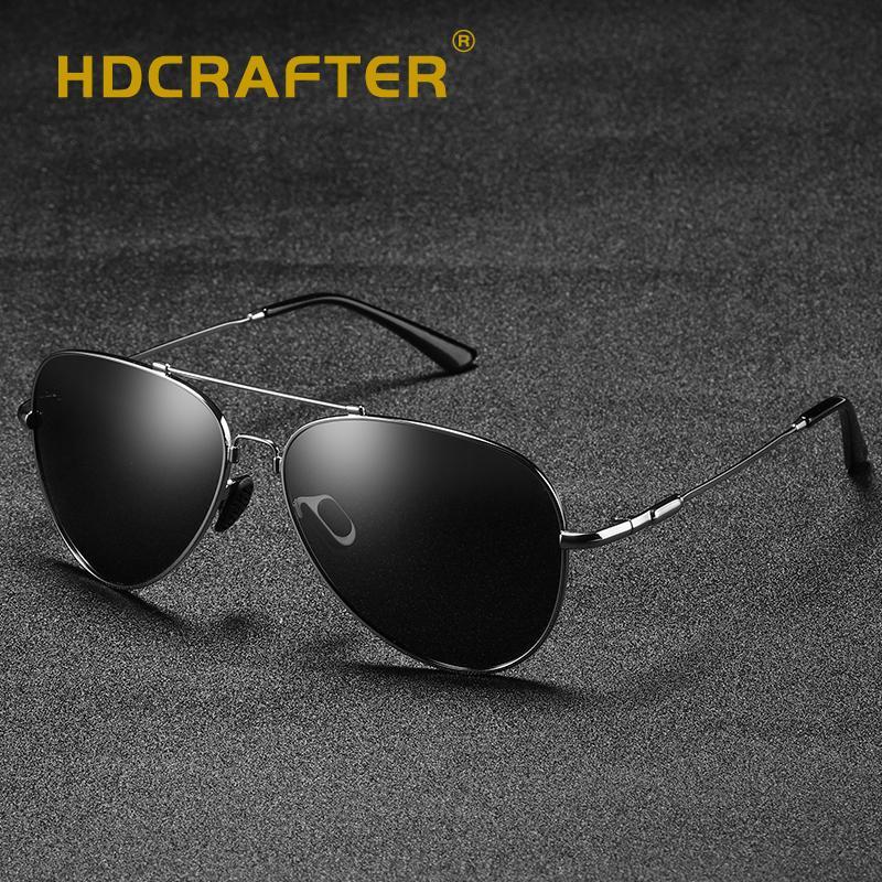 7a62d1642 HDCRAFTER Fashion Polarized Sunglasses Men Alloy Frame Mirror Pilot Sun  Glasses For Men UV400 Driving Eyewear Oculos Shades Prescription Glasses  Online ...