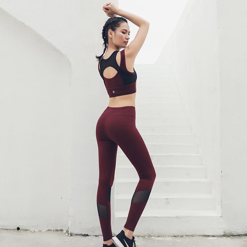 82827e187d New Slim Yoga Clothes Two-piece Suit Women's Sports Suit Women's ...