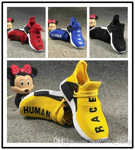 Adidas tennis hu Kinder menschliche Sportschuhe für Kinder Menschliche Renntrainer Jungen Pharrell Williams Pour Enfants Chaussures