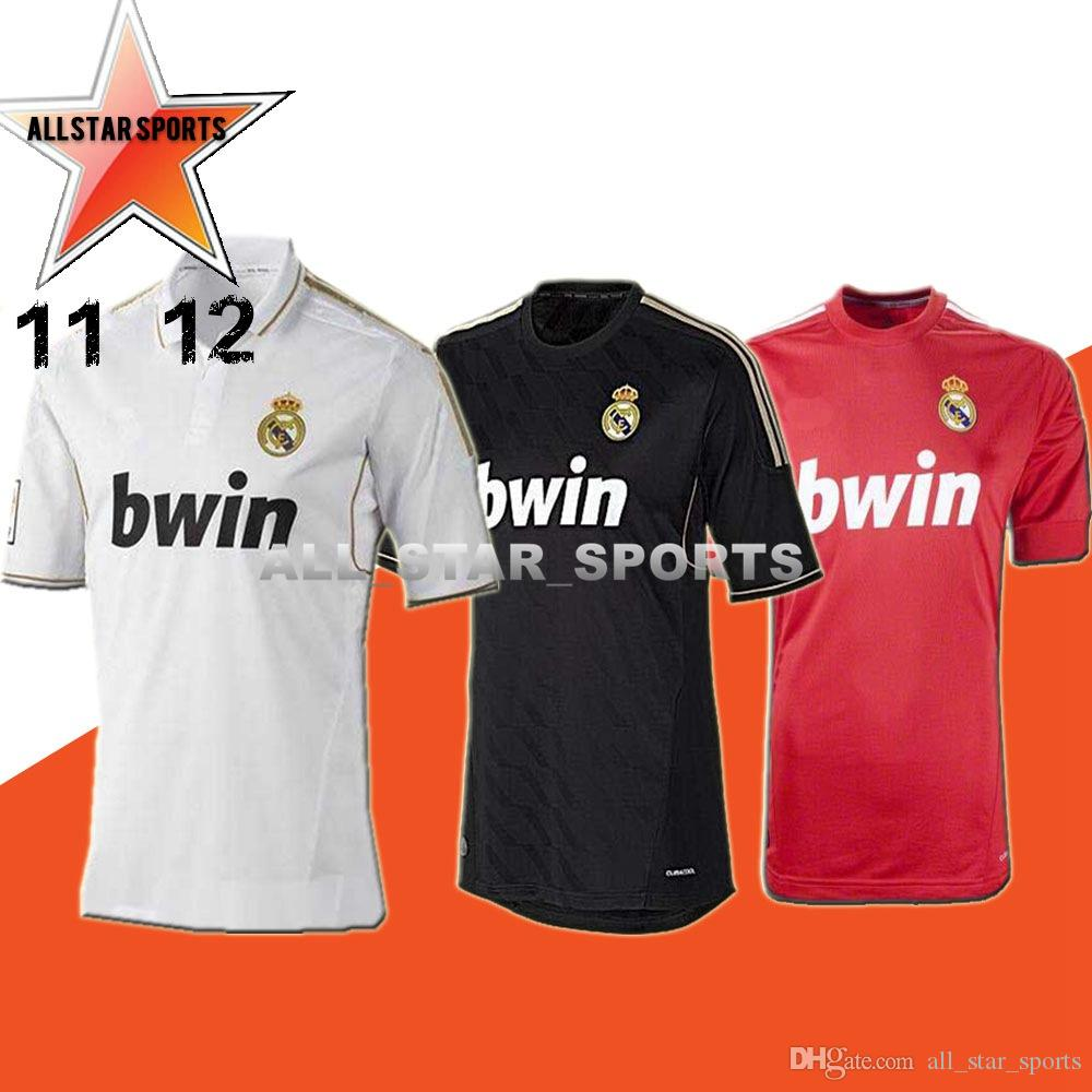 6280a78b2b4 2019 2011 2012 Real Madrid Soccer Jersey 11 12 Retro Jersey Home Away  Champion League RAMOS KAKA RONALDO BENZEMA ALONSO Classic Shirt From  All star sports